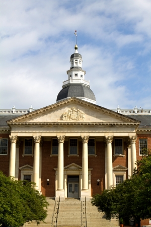 congressional: Maryland State Capitol entrance building in Annapolis, Maryland, USA.