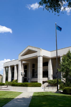 nv: Supreme Court of Nevada building in Carson City, NV  Stock Photo