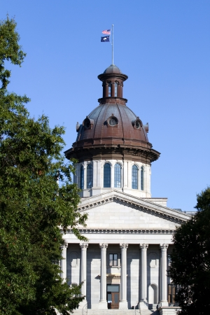 South Carolina state capital building in Columbia, SC against a blue sky. Stock Photo - 24075402