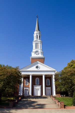 md: Memorial Chapel on campus of the University of Maryland located in College Park, MD   Stock Photo