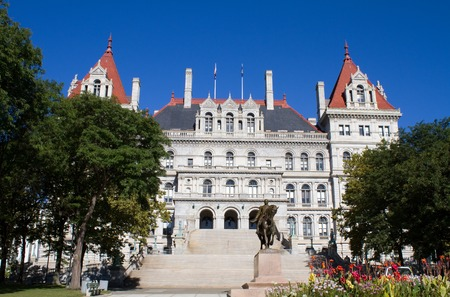 legislature: New York state capitol building, located in Albany, NY is part of the Empire State Plaza and is a National Historic Landmark. Editorial