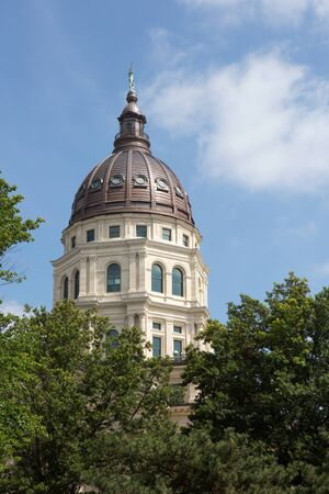Dome of the Kansas State Capitol building located in Topeka, Kansas, USA. Editöryel