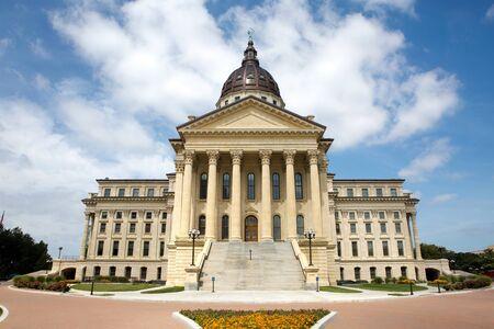 KANSAS: Kansas State Capitol building located in Topeka, Kansas, USA.