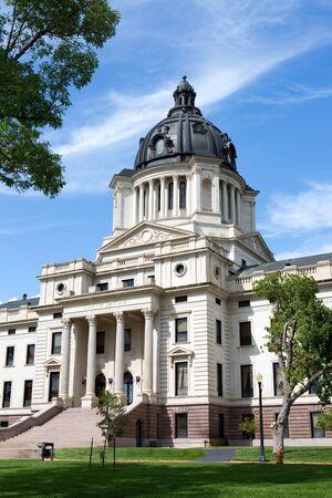 legislature: South Dakota State Capitol building is located in Pierre, South Dakota, USA.