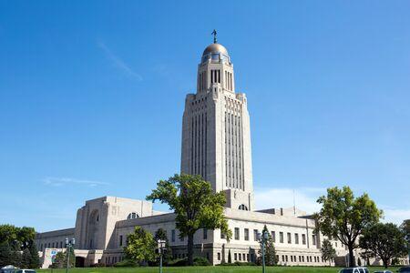 Nebraska State Capitol building is located in Lincoln, Nebraska, USA.