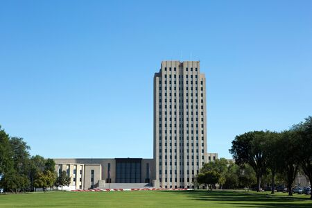 city building: North Dakota State Capitol is located in Bismarck, North Dakota, USA.