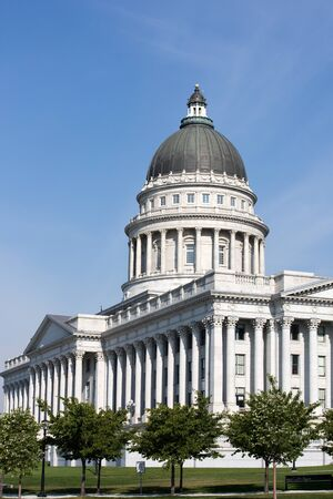 monument historical monument: Utah State Capitol located in Salt Lake City, Utah, USA. Stock Photo