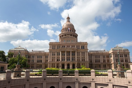 Texas State Capitol building located in Austin, Texas, USA. Imagens
