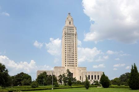 Louisiana State Capitol building which is located in Baton Rouge, LA, USA.