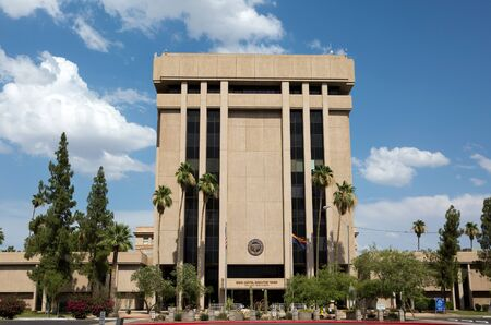 PHOENIX, ARIZONA - JUNE 11, 2016: Arizona State Capitol Executive Tower which houses the governor's office was sold in 2009 in a real estate transaction to raise money for the state budget. The state now leases the building.