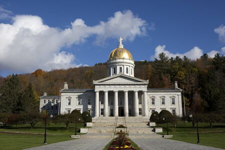 Vermont State House capital building is located in Montpelier, VT, USA.