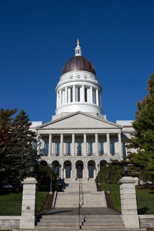 monument historical monument: Maine State House Capitol building is located in Augusta, ME, USA.