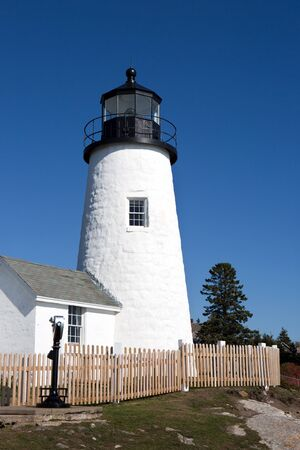 Pemaquid Point Lighthouse is located in the town of Bristol, Maine, USA. Reklamní fotografie