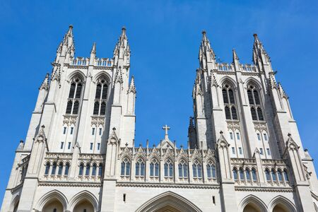 Washington National Cathedral is located in Washington, D.C., USA. Reklamní fotografie