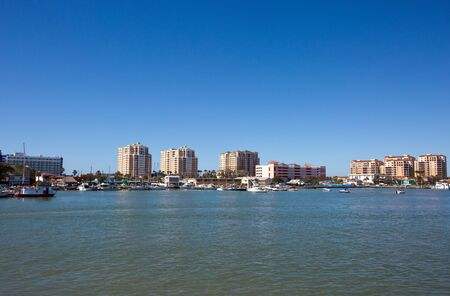 Clearwater Beach, Florida skyline viewed toward the west from across Mandalay Channel.