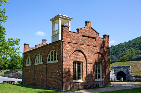 abolitionists: John Browns Fort located in Harpers Ferry National Historical Park, West Virginia, is a pre-Civil War era building owned and operated by the U.S. National Park Service.