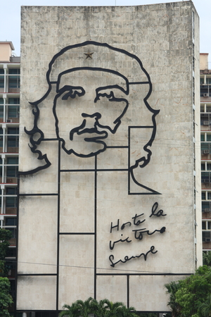 che guevara: Giant Che Guevara monument in the Revolution Square  Plaza de la Revolucion  in Havana, Cuba  Editorial