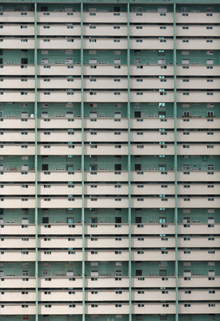 Densely populated tower block   apartment building in downtown Havana, Cuba