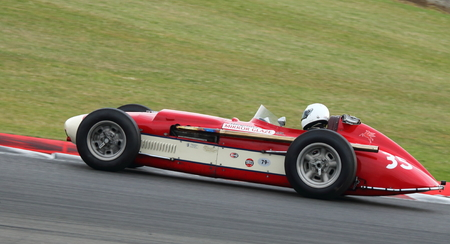 Classic 1950s Formula One Grand Prix Car Racing At The Silverstone Classic  2014