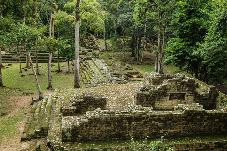 mesoamerica: Abandoned temples in the Mayan ruins of Copan, an archaeological site in Honduras and a UNESCO World Heritage Site.   Located at the south end of the Mesoamerican region, Copan was the capital of a large area from 400 AD to 800 AD.