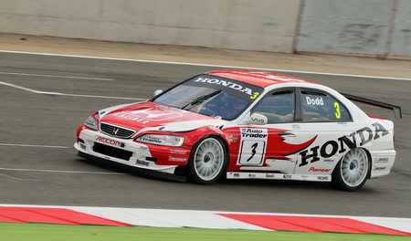 accord: Honda Accord being driven in the British Touring Car race at an historic race meeting.