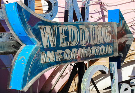 junk yard: Old, broken, and decaying neon casino signs in a junk yard in the desert near Las Vegas. Stock Photo