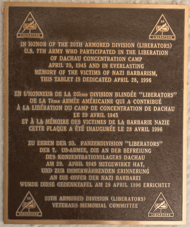 concentration camp: Memorial plaque at the former Dachau concentration camp near Munich, Germany. The site is now a memorial and a museum.