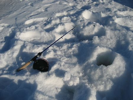 burbot: ice fishing Stock Photo