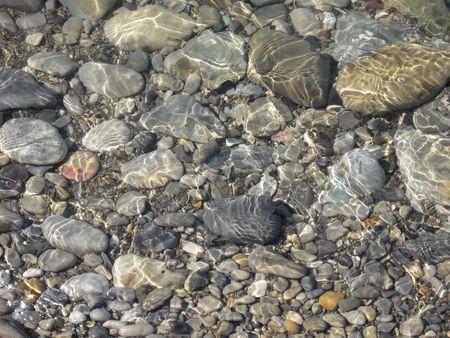 water stone: submerged rocks