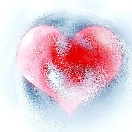 winter thaw: freezon love Stock Photo