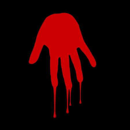 red bloody hand