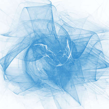ray trace: chaos blue dream rays dancing Stock Photo
