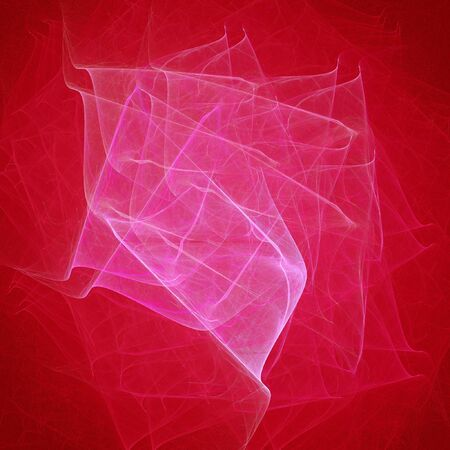 myst: abstract chaos pink rays on red background