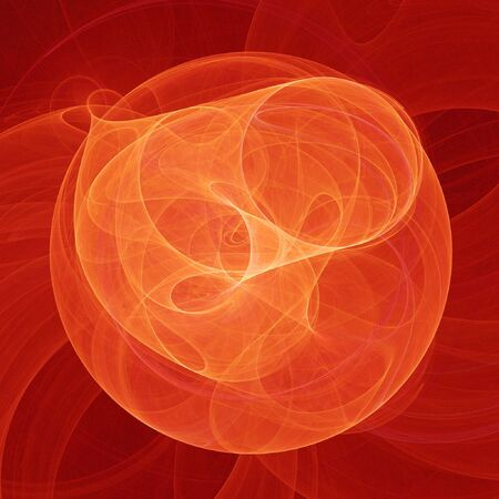 chaos fire flame rays ring on red background photo