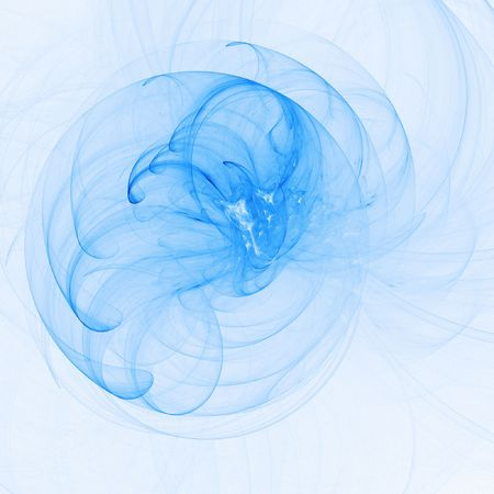 myst: bright blue rays chaos and ring on white background