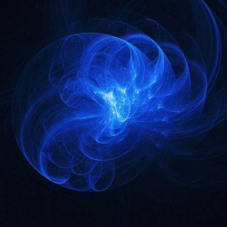 bright blue rays chaos and ring on dark background Stock Photo - 936520
