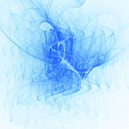 myst: bright blue rays chaos and wave on white background
