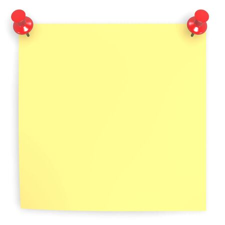 foursquare: sticky blank yellow note paper on white background