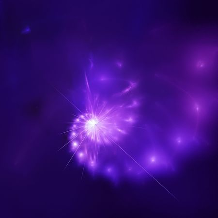 outer space star rays on deep blue background photo