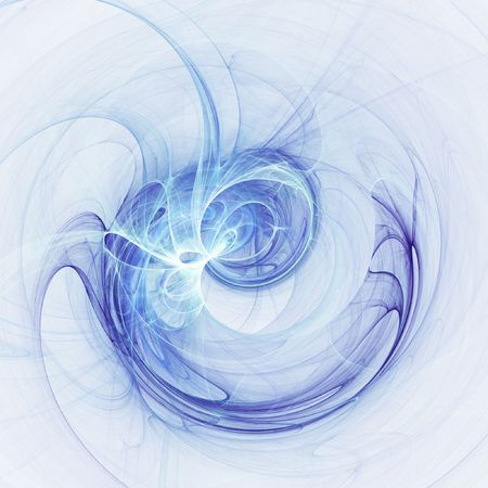 abstract chaos blue rays technology on white background Stock Photo - 1194546