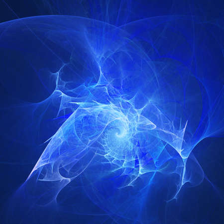 abstract chaos blue rays on dark background photo