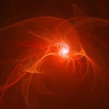 abstract chaos fire rays on dark background photo