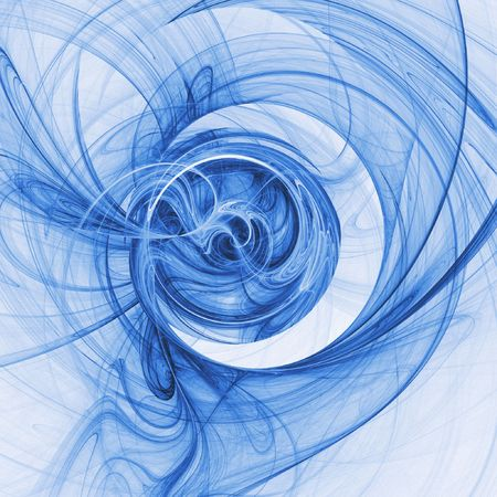 abstract chaos blue rays technology on white background