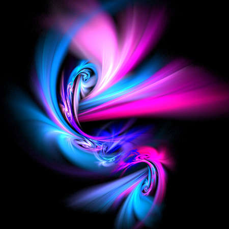 abstract art of dancing rays on dark background Stock Photo - 1334151