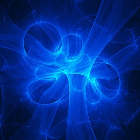 abstract blue flame rays on dark background Stock Photo - 1334146