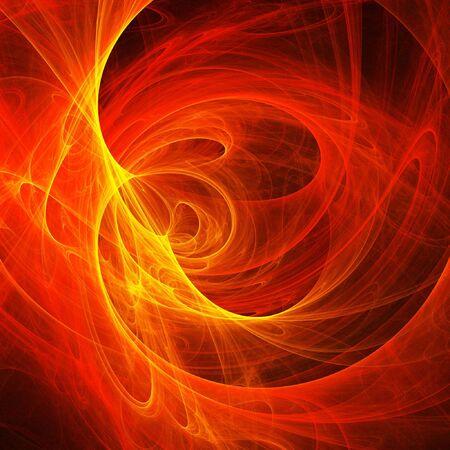 splendid: abstract fire cloud rays on dark background Stock Photo