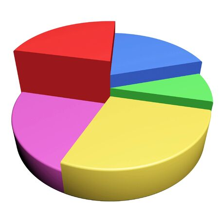 factor: colorful Business Graph of growing up arrow Stock Photo