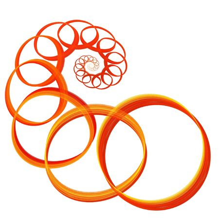 abstract chaos fire rings on white background Stock Photo - 1423533