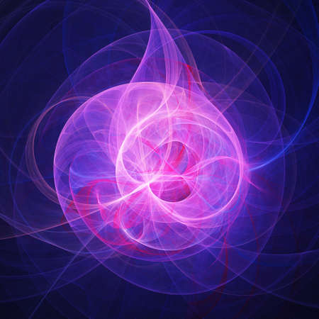 incandescent: abstract chaos pink flame rays on dark background