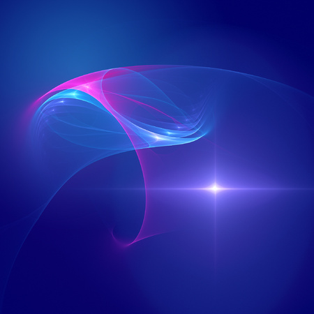 outer space star and chaos rays on blue background photo